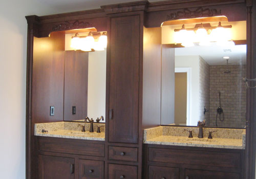 Model Home Tour Built-In Bathroom
