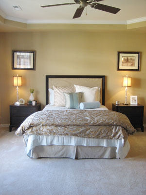 Model Home Tour Coffered Bedroom Ceiling