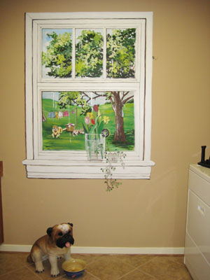 Model Home Tour Faux Window Mural