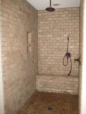 Model Home Tour Shower Tiled
