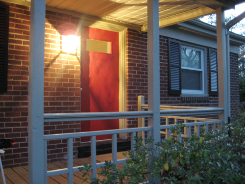 red front door on brick house. And We Thought It Might Be Helpful To Share Our Exterior Palate As A Whole With You Guys So Here Is. Complement All-brick Facade Added Tan Trim Red Front Door On Brick House N