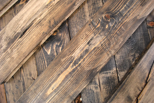 How To Distress Wood With Paint + Coconut Oil