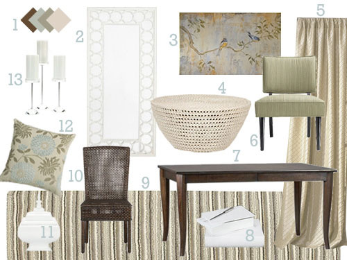 Warm And Cozy Dining Room Moodboard: Diane's Design Dilemma