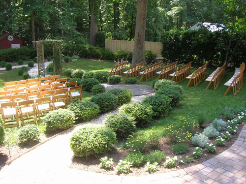 Getting Married In My Backyard : backyard wedding seating area chair rental cheap DIY