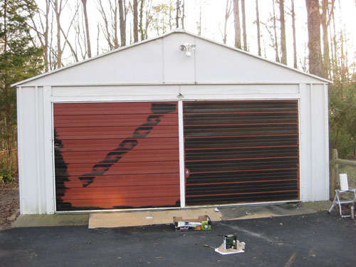 Painting A Garage Door Is Easy And Affordable- Here's How ... on Garage Door Painting Ideas  id=83518