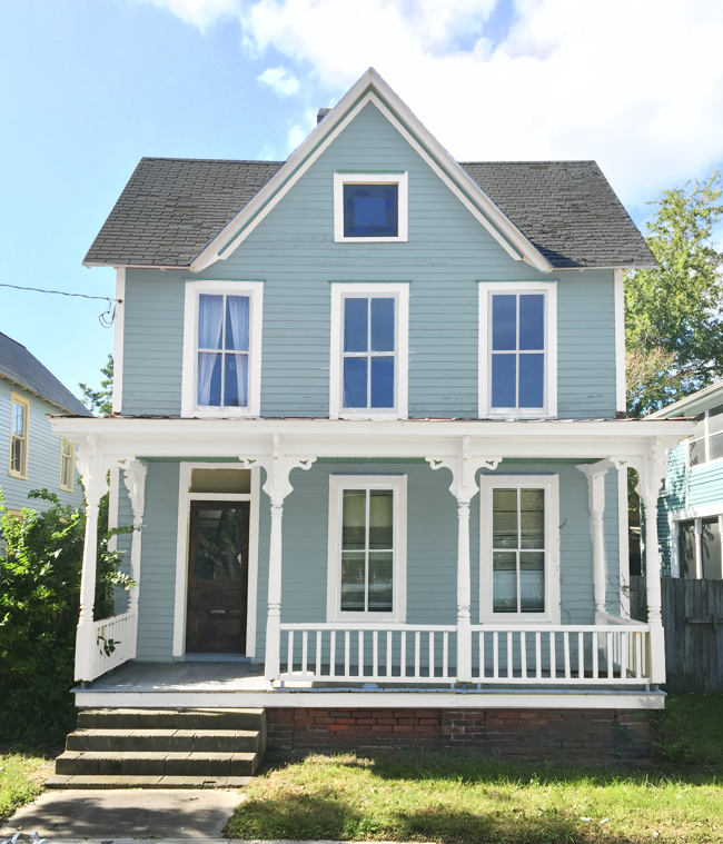How we picked our beach house color young house love for Beach house exterior colour schemes